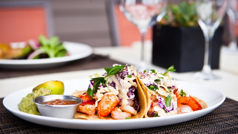 Lobster & shrimp tacos in Carlsbad